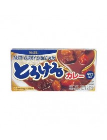 CURRY S&B - TASTY CURRY SAUCE MIX - HOT 200g.