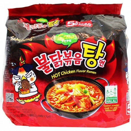 RAMEN ISTANTANEO  PACK X 5 BUSTINE POLLO PICCANTE