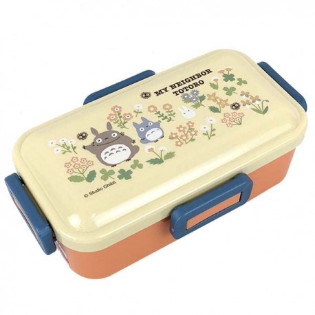 BENTO BOXES - SCATOLE PER IL BENTO TOTORO FLOWER ORANGE 530 ML