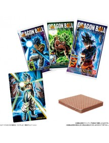 BISCOTTI DRAGONBALL UNLIMITED3 WAFER AL CIOCCOLATO + 2 CARD