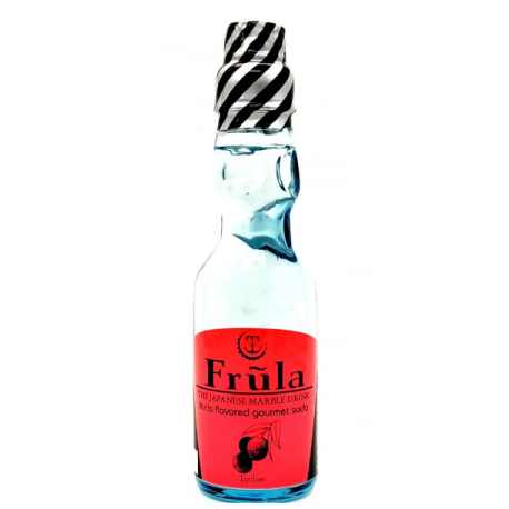 SOFT DRINK RAMUNE FRULA FRUITS FLAVOURED GOURMET SODA - LYCHEE